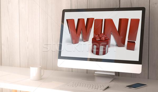 desktop computer win Stock photo © georgejmclittle