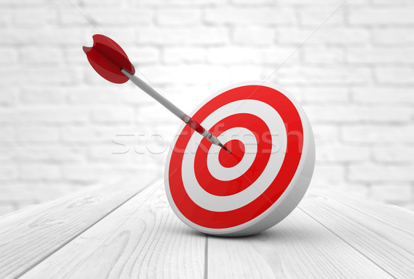 Vermelho alvo dardo estratégico negócio soluções Foto stock © georgejmclittle
