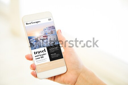 insurance comparator cell phone Stock photo © georgejmclittle