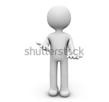 Toelichting geven man uitleggen communicatie informatie Stockfoto © georgejmclittle