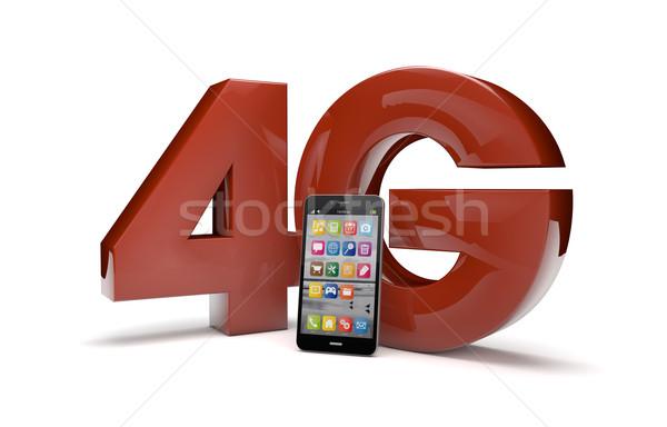 4g texto tornar tecnologia rádio Foto stock © georgejmclittle
