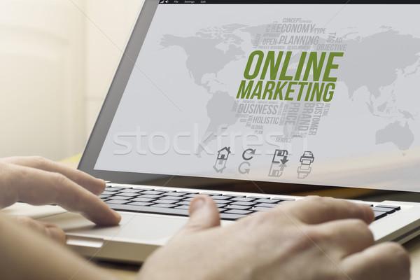 home computing online marketing Stock photo © georgejmclittle