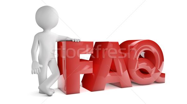 よくある質問 レンダー 3dのレンダリング 男 文字 赤 ストックフォト © georgejmclittle