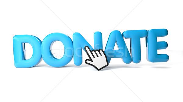 Schenken geven icon teken brief illustratie Stockfoto © georgejmclittle