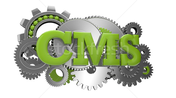 Cms engins groupe texte web Photo stock © georgejmclittle