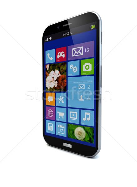 Besturingssysteem smartphone geven scherm mobiele communicatie Stockfoto © georgejmclittle