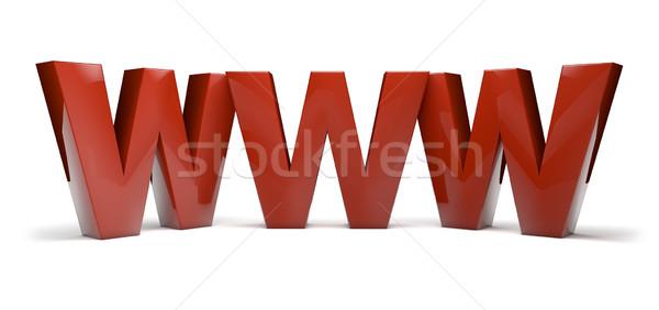 World wide web texte www ordinateur homme Photo stock © georgejmclittle