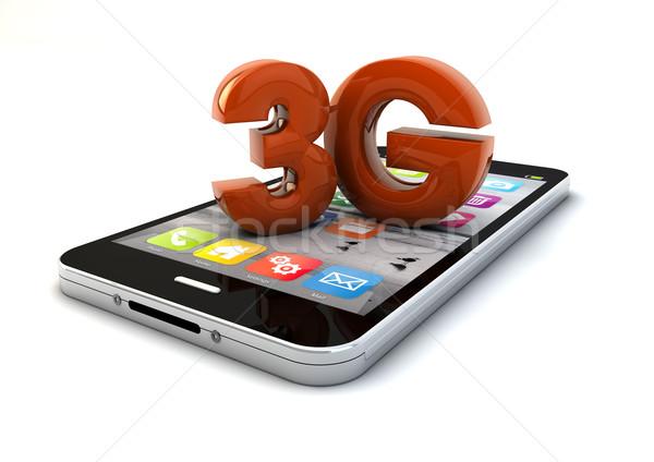 3g смартфон оказывать текста технологий радио Сток-фото © georgejmclittle