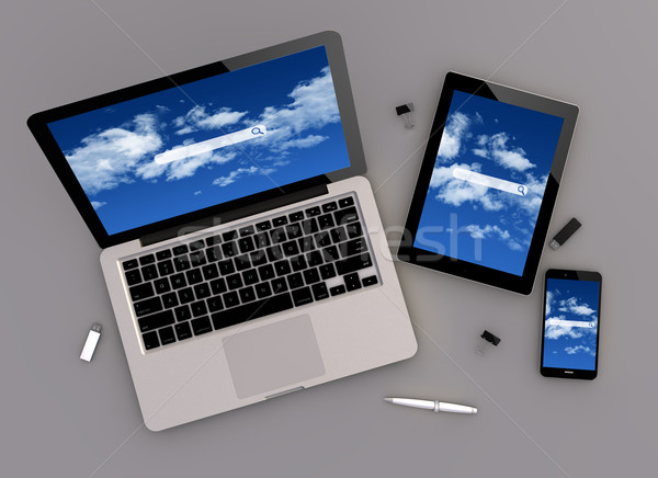 responsive design cloud search zenith view Stock photo © georgejmclittle
