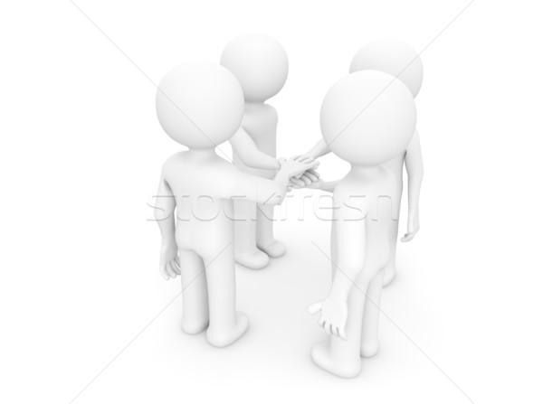 four men shaking hands Stock photo © georgejmclittle