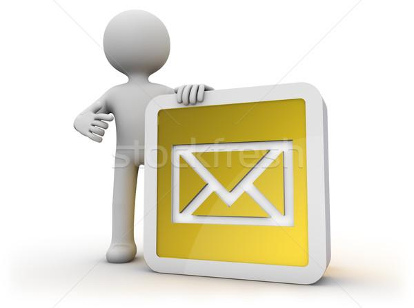 Mail icono hacer hombre tecnología tipo Foto stock © georgejmclittle