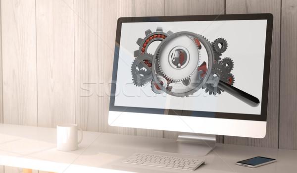 цифровой оказывать генерируется workspace компьютер Сток-фото © georgejmclittle