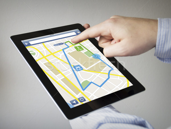 gps navigation on a tablet Stock photo © georgejmclittle