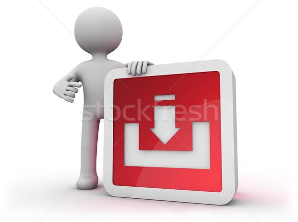 Icône de téléchargement homme technologie Guy switch Photo stock © georgejmclittle
