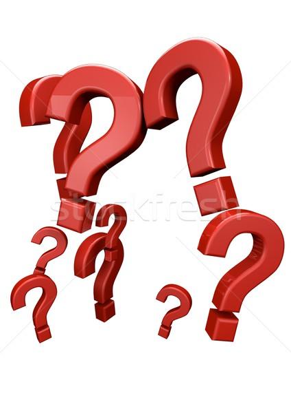 вопросы оказывать группа вопросе думать Сток-фото © georgejmclittle