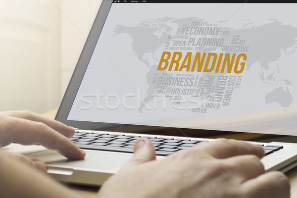 home computing branding Stock photo © georgejmclittle