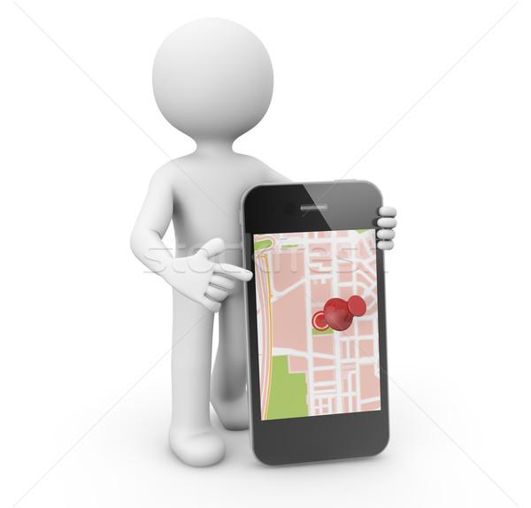phone map Stock photo © georgejmclittle