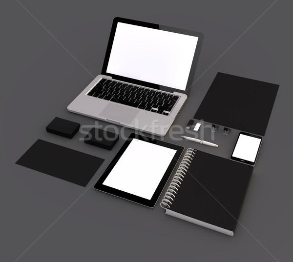 black branding mock-up Stock photo © georgejmclittle