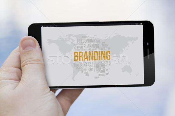 branding cell phone Stock photo © georgejmclittle