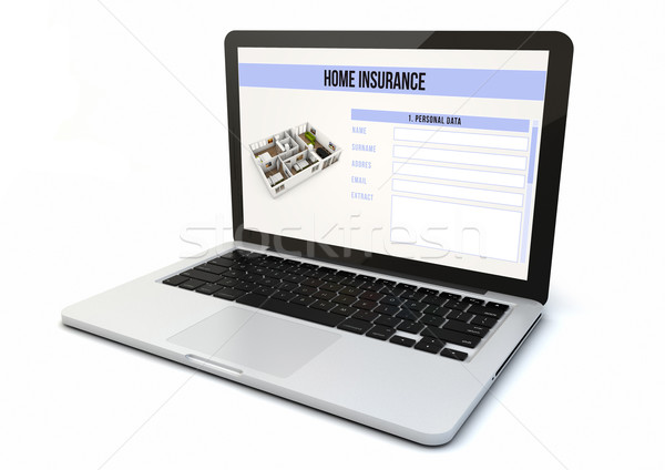laptop home insurance Stock photo © georgejmclittle