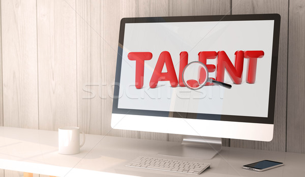 を 才能 検索 デジタル レンダー ストックフォト © georgejmclittle