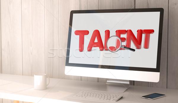 Online talento ricerca digitale Foto d'archivio © georgejmclittle