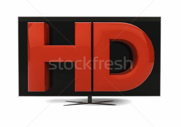 Hd テレビ レンダー 文字 テレビ 画面 ストックフォト © georgejmclittle