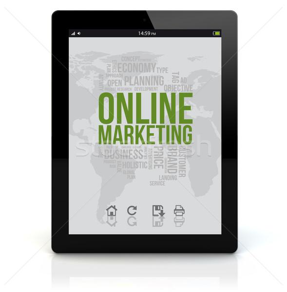 tablet pc online marketing Stock photo © georgejmclittle