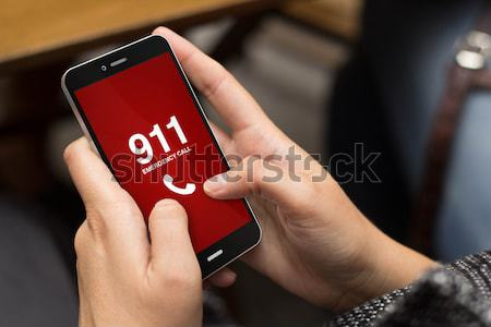 emergency call businessman smartphone Stock photo © georgejmclittle