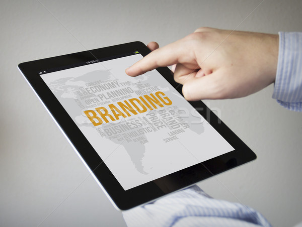 branding on a tablet Stock photo © georgejmclittle