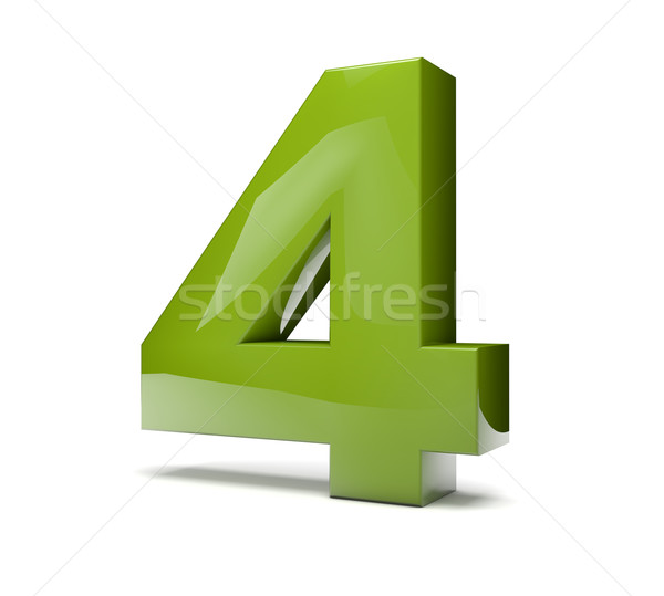 number four Stock photo © georgejmclittle