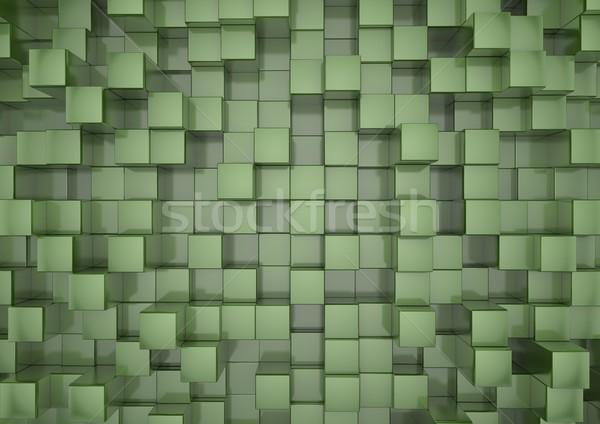 Vert rendu 3d texture résumé boîte Photo stock © georgejmclittle