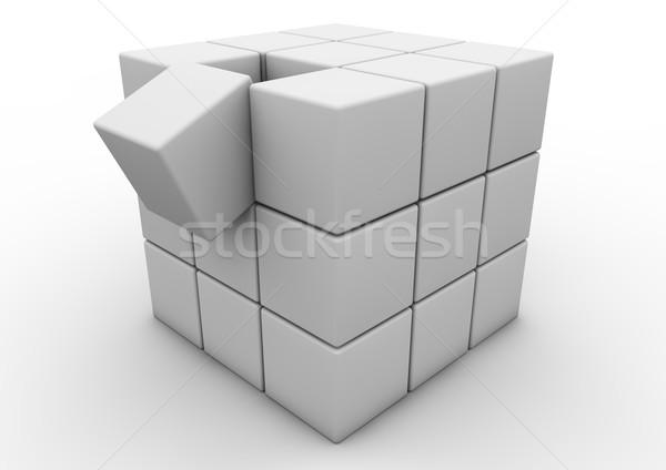 Vallen matrix geven een abstract Stockfoto © georgejmclittle