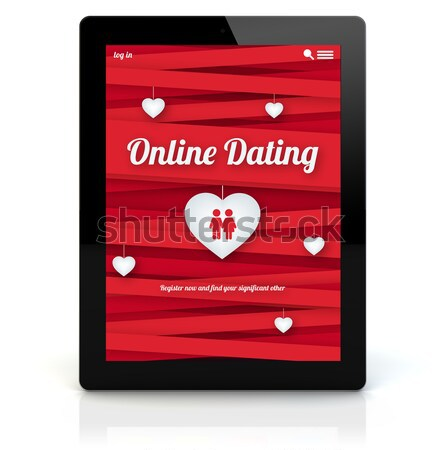 tablet breakfast online dating Stock photo © georgejmclittle
