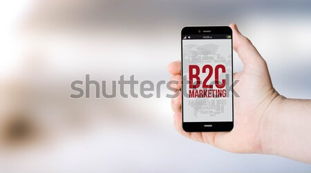 digital marketing businessman smartphone Stock photo © georgejmclittle