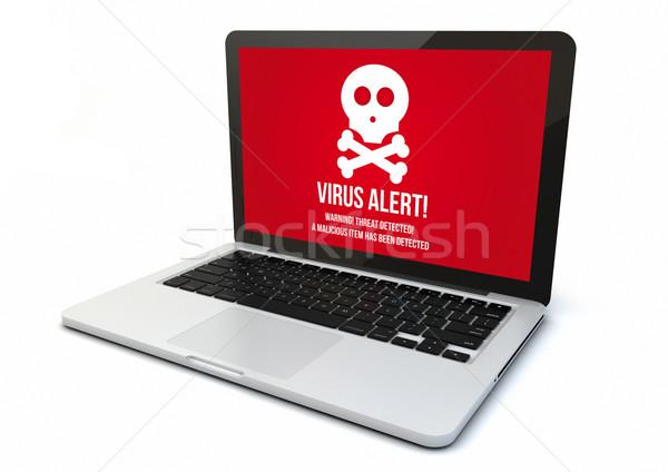 laptop virus Stock photo © georgejmclittle