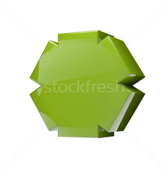 asterisk green Stock photo © georgejmclittle
