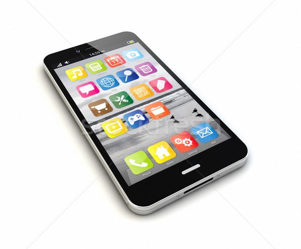 Smartphone originale téléphone technologie réseau Photo stock © georgejmclittle