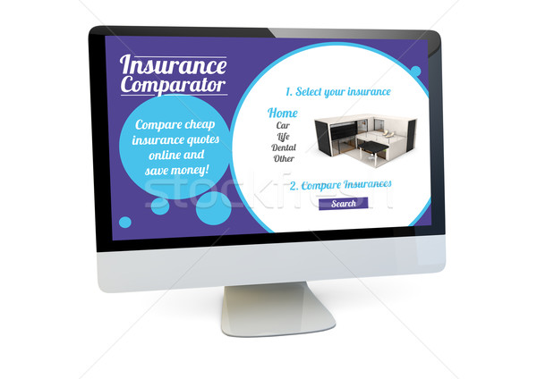 insurance comparator computer Stock photo © georgejmclittle