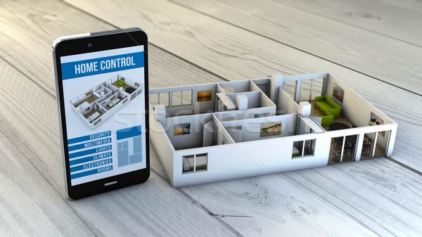 Casa automação controlar aplicativo Foto stock © georgejmclittle