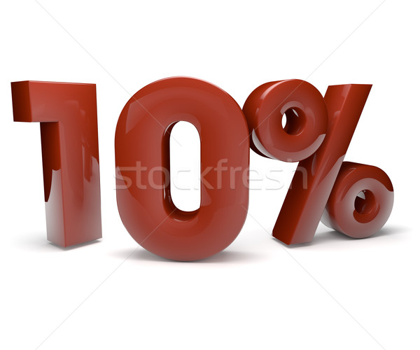 ten percent Stock photo © georgejmclittle