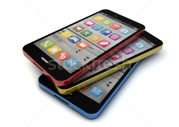 colorfull smartphones Stock photo © georgejmclittle