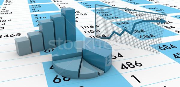 Grafiki wykresy oddać grupy działalności farbują Zdjęcia stock © georgejmclittle