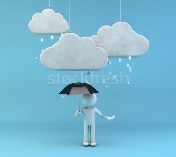 raining Stock photo © georgejmclittle
