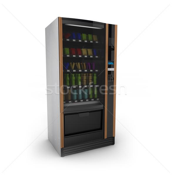 Automaat geven geïsoleerd witte voedsel winkel Stockfoto © georgejmclittle