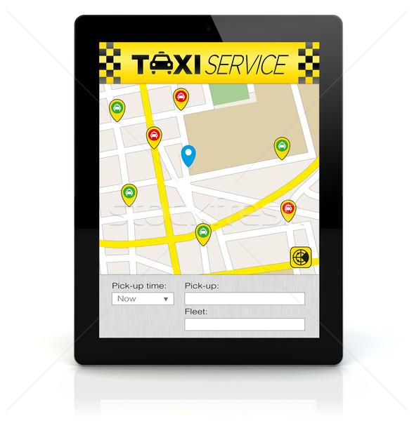 Taxi app écran tous Photo stock © georgejmclittle