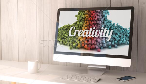 Ordinateur de bureau créativité numérique généré Photo stock © georgejmclittle