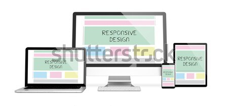 devices responsive with responsive design Stock photo © georgejmclittle