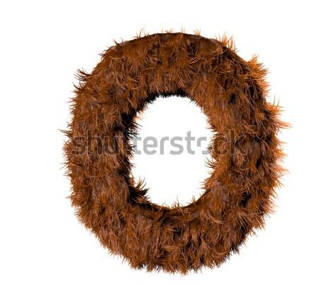 Zéro fourrures nombre texture design Photo stock © georgejmclittle