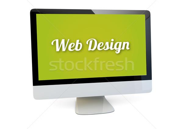 Web design portable modernes ordinateur écran Photo stock © georgejmclittle